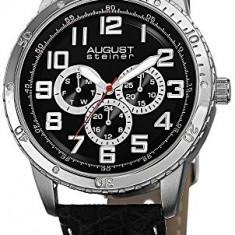 August Steiner Men's AS8116SSB Multifunction | 100% original, import SUA, 10 zile lucratoare a12107 - Ceas barbatesc August Steiner, Quartz