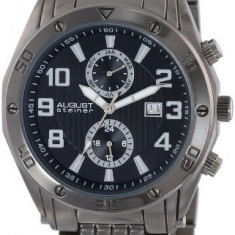 August Steiner Men's AS8070BK Swiss | 100% original, import SUA, 10 zile lucratoare a12107 - Ceas barbatesc August Steiner, Quartz