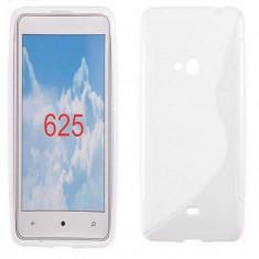 Husa Nokia Lumia 625 TPU S-LINE White - Husa Telefon Nokia, Alb, Gel TPU, Fara snur, Carcasa