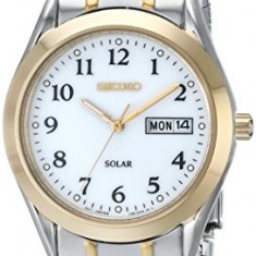 Seiko Men's SNE062 Two-Tone Solar | 100% original, import SUA, 10 zile lucratoare a12107 - Ceas barbatesc Seiko, Quartz