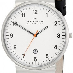 Klassik Three-Hand Date Leather Watch | 100% original, import SUA, 10 zile lucratoare a12107 - Ceas barbatesc Skagen, Quartz