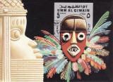 2329 -  Umm al Qiwain  colita stampilata - folclor - masti