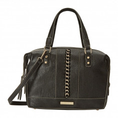 Geanta Nine West Off The Chain Medium Satchel | 100% original, import SUA, 10 zile lucratoare z12107 - Geanta Dama Nine West, Geanta de umar, Negru