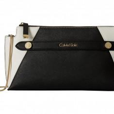 Geanta Calvin Klein Saffiano Clutch | 100% original, import SUA, 10 zile lucratoare z12107 - Geanta Dama Calvin Klein, Geanta de umar, Negru