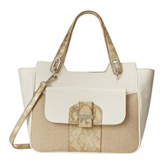 Geanta Nine West Up For keep Large Satchel | 100% original, import SUA, 10 zile lucratoare z12107 - Geanta Dama Nine West, Geanta de umar, Crem