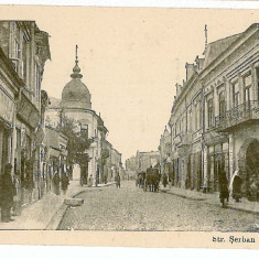 2906 - Arges, PITESTI, street Serban Voda - old postcard - unused - Carte Postala Muntenia 1904-1918, Necirculata, Printata