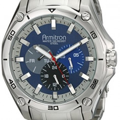 Armitron Men's 20 4941BLSV Stainless | 100% original, import SUA, 10 zile lucratoare a12107 - Ceas barbatesc Armitron, Quartz