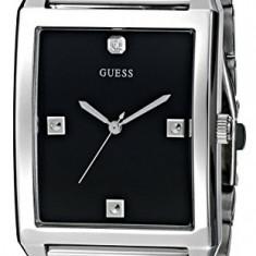 GUESS Men's U0279G1 Rectangular Silver-Tone | 100% original, import SUA, 10 zile lucratoare a12107 - Ceas barbatesc Guess, Quartz