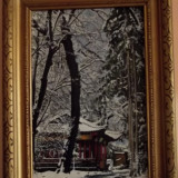Tablou iarna, Peisaje, Ulei, Realism