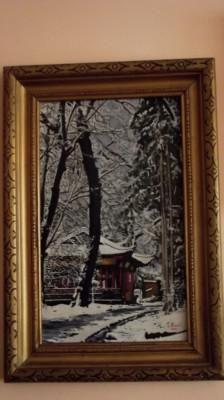 tablou iarna foto