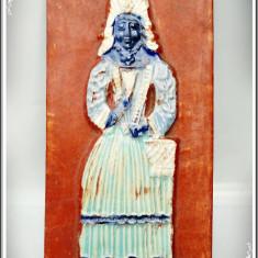 DECORAȚIUNE DE PERETE DIN CERAMICĂ GLAZURATĂ MASIVĂ - 1 KG. ARTĂ NAIVĂ, NEGRESĂ! - Arta Ceramica