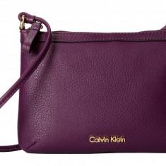 Geanta Calvin Klein Pebble Crossbody | 100% original, import SUA, 10 zile lucratoare z12107 - Geanta Dama Calvin Klein, Geanta de umar, Mov, Piele