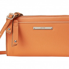 Geanta Nine West Zip and Go Crossbody | 100% original, import SUA, 10 zile lucratoare z12107 - Geanta Dama Nine West, Geanta de umar, Orange, Piele