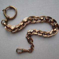 Lant vechi placat cu aur pentru ceas de buzunar antic