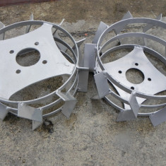 Roti metalice pentru motocultor 42cm pereche metal fier motosapa