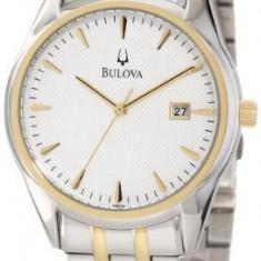 Bulova Men's 98B134 Bracelet Silver | 100% original, import SUA, 10 zile lucratoare a22207 - Ceas barbatesc Bulova, Quartz