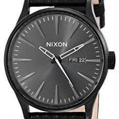 Nixon Men's A1051617 Sentry Leather | 100% original, import SUA, 10 zile lucratoare a22207 - Ceas barbatesc Nixon, Quartz