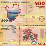 BURUNDI 500 francs 2015 UNC!!!