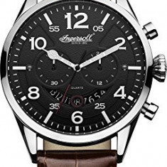 Ingersoll Men's INQ029BKSL Compton Stainless | 100% original, import SUA, 10 zile lucratoare a22207 - Ceas barbatesc Ingersoll, Quartz