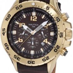 Nautica Men's N18522G NST Gold-Tone | 100% original, import SUA, 10 zile lucratoare a12107 - Ceas barbatesc Nautica, Quartz