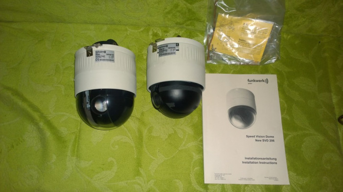 Lot 2x Camere Profesionale CCTV Speed Vision Dome SVD206 zoom 27X Functionale!!