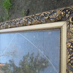 Rama antica bogat ornamentata, veche, pentru tablou sau oglinda