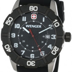 Wenger Roadster Black Stainless Steel | 100% original, import SUA, 10 zile lucratoare a22207 - Ceas barbatesc Wenger, Otel