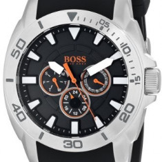 BOSS Men's 1512950 Orange Stainless | 100% original, import SUA, 10 zile lucratoare a22207, Casual, Quartz, Hugo Boss