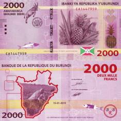 BURUNDI 2.000 francs 2015 UNC!!! - bancnota africa