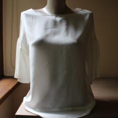 Bluzita alba, matase naturala, Zara - Bluza dama Zara, Marime: 38, Maneca scurta