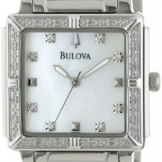 Bulova Women's 96R107 Stainless Steel and | 100% original, import SUA, 10 zile lucratoare af22508 - Ceas dama Bulova, Elegant, Quartz, Analog