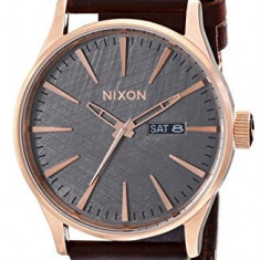 Nixon Men's A1052001 Sentry Leather | 100% original, import SUA, 10 zile lucratoare a22207 - Ceas barbatesc Nixon, Quartz