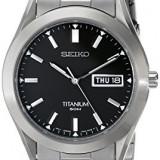 Seiko Men's SGG707 Titanium Watch | 100% original, import SUA, 10 zile lucratoare a22207 - Ceas barbatesc Seiko, Lux - sport