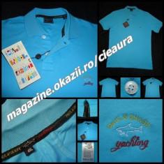 TRICOU TURCOAZ BARBATI 5XL GEN FIRMA PAUL&SHARK MANECA SCURTA GULER 100% BUMBAC - Bluza XXXL