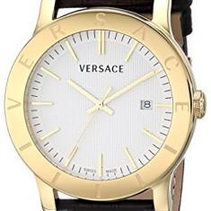 Versace Men's VQB030000 Acron Gold-Plated | 100% original, import SUA, 10 zile lucratoare a32207 - Ceas barbatesc Versace, Lux - sport, Placat cu aur