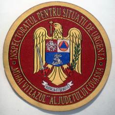 5.507 ROMANIA ECUSON MILITAR POMPIERI ISU MIHAI VITEAZUL COVASNA 90mm