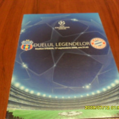 Program Steaua - Bayern Munchen - Program meci