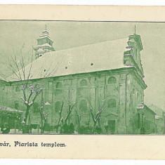 1392 - TIMISOARA, Templu Piarista - old postcard - used - 1911 - Carte Postala Banat 1904-1918, Circulata, Printata