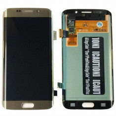 Ansamblu Lcd Display Touchscreen touch screen Samsung Galaxy S6 Edge Gold Auriu ORIGINAL - Display LCD