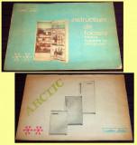 1980 ARCTIC Frigidere cu compresor, brosura Epoca de Aur, instructiuni folosire