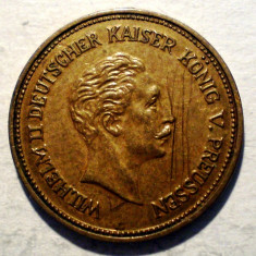 B.476 JETON GERMANIA PRUSIA WILHELM II 10 MARK 1878 16, 5mm - Jetoane numismatica