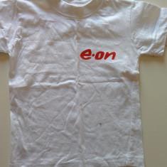 Tricou pentru copii, alb simplu, marimea 5-6 ani, sigla E-ON, COMANDA MINIMA 30, Unisex