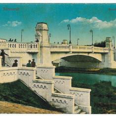 1481 - TIMISOARA, bridge - old postcard - unused - Carte Postala Banat 1904-1918, Necirculata, Printata