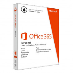 Suita office Microsoft QQ2-00038 Office 365 Personal Medialess 32bit/x64 Engleza 1an - Solutii business