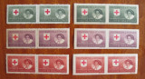 Timbre CRUCEA ROSIE (1946, serie completa 6 x 2 timbre, dantelate / nedantelate), Medical, Nestampilat