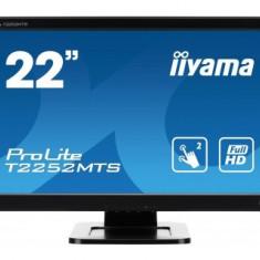Monitor LED Iiyama Prolite T2252MTS-B3, 21.5 inch, 1920 x 1080 Full HD, negru