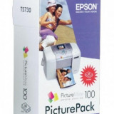 Hartie foto Epson Pachet foto Epson T5730 cu toner inkjet si hartie fotografica