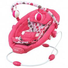 Baby Mix leagan muzical cu vibratii Grand Confort, 0-1 an, maxim 9 kg, roz - Balansoar interior