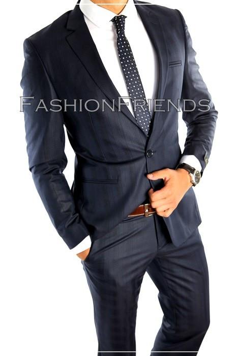 Costum tip ZARA - sacou + pantaloni - costum barbati casual office  - 4877 foto mare