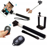 Selfie stick telecomanda bluetooth wireless telefon si camera.